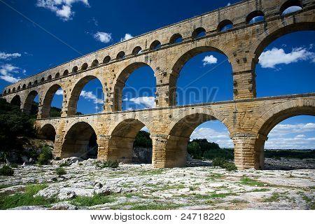 Pont du Gard ancient Roman Aqueduct, Provence, France poster