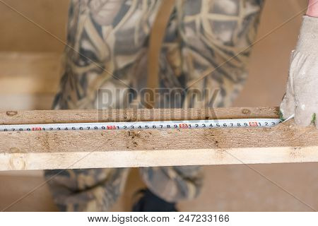 Joiner's tools. Measuring tool for the joiner. Wood processing. The joiner. poster