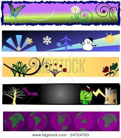 Five Seasonal Backgrounds