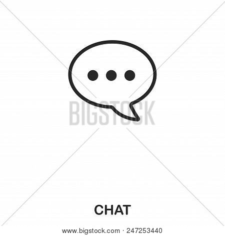 Chat Icon. Line Style Icon Design. Ui. Illustration Of Chat Icon. Pictogram Isolated On White. Ready