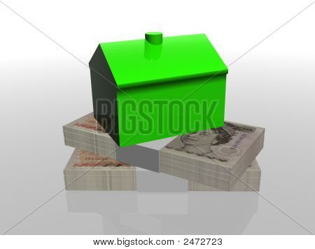 Mortgage House Abstract Image