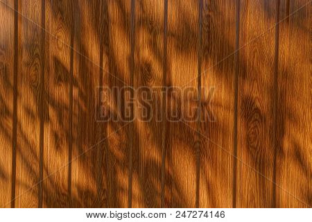 Brown Wooden Texture Of The Boards In The Shade
