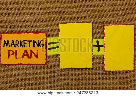 Conceptual Hand Writing Showing Marketing Plan. Business Photo Showcasing Business Advertising Strat