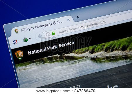 Ryazan, Russia - June 26, 2018: Homepage Of Nps Website On The Display Of Pc. Url - Nps.gov