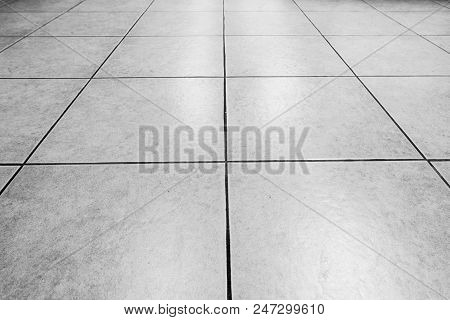 Black And White Tiles Marble Floor Background