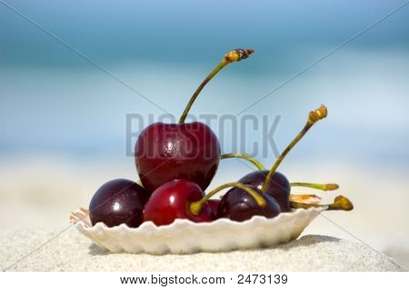 Summer Beach Food And Vacation Concept