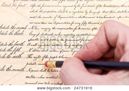 Close Up Erasing The Fourth Amendment To U.s. Constitution