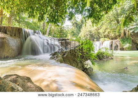 Chet Sao Noi Waterfall In National Park