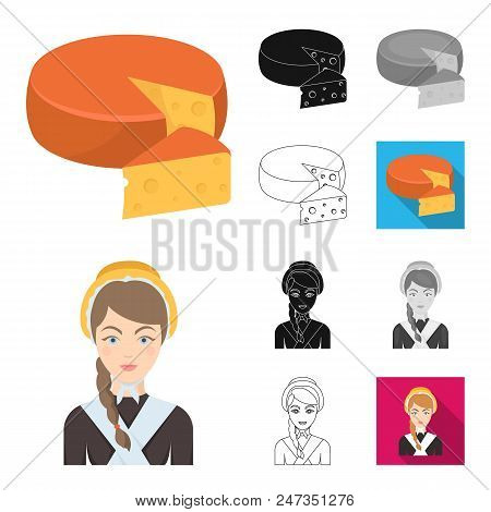 Country Belgium Cartoon, Black, Flat, Monochrome, Outline Icons In Set Collection For Design.travel