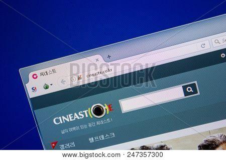 Ryazan, Russia - June 26, 2018: Homepage Of Cineaste Website On The Display Of Pc. Url - Cineaste.co