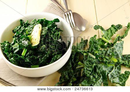 cavolo nero, black curly kale