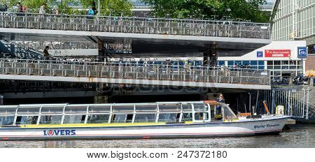 Amsterdam, May, 28, 2015. Tour-boat. Amsterdam Is Known As Venice Of The North, It Has 1,200 Bridges