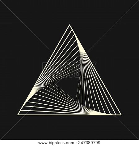 Sacred Geometry. Graphic Linear Triangle. Triangular Symbol Of Life. Secret Symbol Of Geometry. Alch