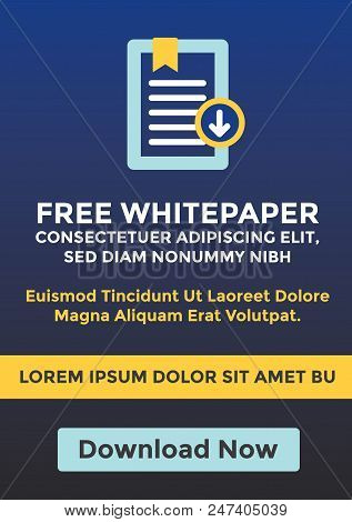 Free Whitepaper / Ebook Download Cta Template With Replaceable Text And Button