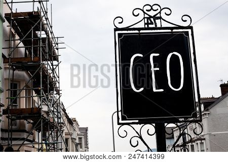 Word Writing Text Ceo. Business Concept For Chief Executive Officer Head Boss Chairperson Chairman C