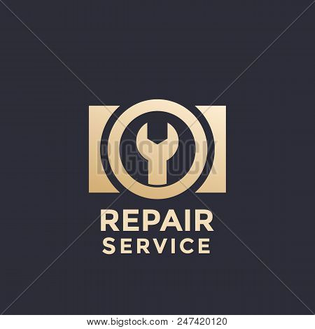 Camera Repair Service Vector Logo Template, Eps 10 File, Easy To Edit