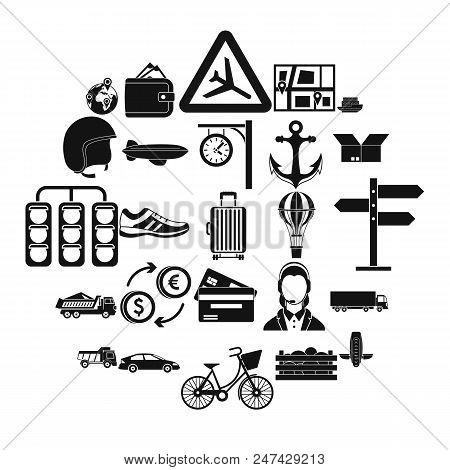 Exchange Icons Set. Simple Set Of 25 Exchange Vector Icons For Web Isolated On White Background