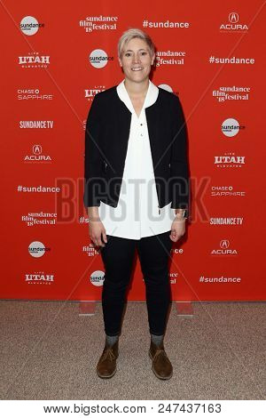 PARK CITY, UT - JAN 22: Writer Emily Danforth attends 'The Miseducation of Cameron Post' premiere at the 2018 Sundance Film Festival at Eccles Theater on January 22, 2018 in Park City, Utah.