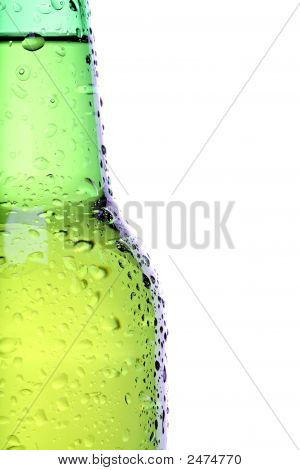 Beer Bottle Closeup Isolated