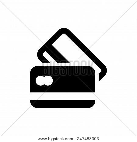 Credit Cards Vector Icon Flat Style Illustration For Web, Mobile, Logo, Application And Graphic Desi