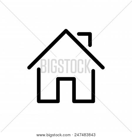 Home Vector Icon Flat Style Illustration For Web, Mobile, Logo, Application And Graphic Design. Home