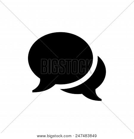Speech Bubbles Vector Icon Flat Style Illustration For Web, Mobile, Logo, Application And Graphic De