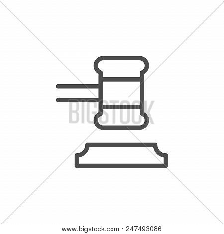 Judgment Line Icon Isolated On White. Vector Illustration