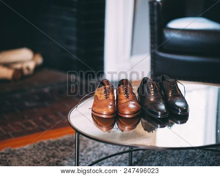 Two Pairs Of Men's Dress Shoes
