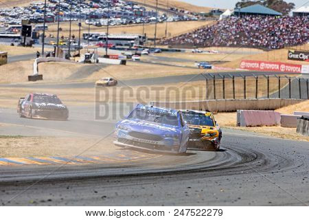June 24, 2018 - Sonoma, California , USA: Ricky Stenhouse, Jr (17) Races through turn ten at the TOYOTA/SAVE MART 350 at Sonoma Raceway in Sonoma, California .