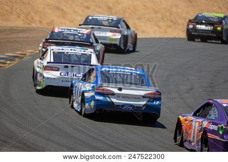 June 24, 2018 - Sonoma, California , USA: Ricky Stenhouse, Jr (17) races for the TOYOTA/SAVE MART 350 at Sonoma Raceway in Sonoma, California .