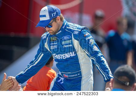 June 24, 2018 - Sonoma, California , USA: Ricky Stenhouse, Jr (17) gets introduced for the TOYOTA/SAVE MART 350 at Sonoma Raceway in Sonoma, California .