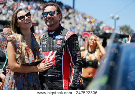 June 24, 2018 - Sonoma, California , USA: Kurt Busch (41) gets ready for the TOYOTA/SAVE MART 350 at Sonoma Raceway in Sonoma, California .