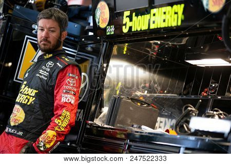 June 22, 2018 - Sonoma, California , USA: Martin Truex, Jr (78) gets ready to take to the track to practice for the TOYOTA/SAVE MART 350 at Sonoma Raceway in Sonoma, California .
