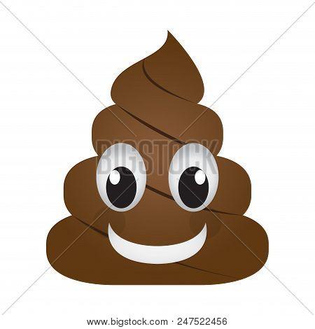 Isolated Happy Poop Emoji. Vector Illustration Design
