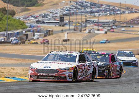 June 24, 2018 - Sonoma, California , USA: Austin Dillon (3) Races through turn ten at the TOYOTA/SAVE MART 350 at Sonoma Raceway in Sonoma, California .