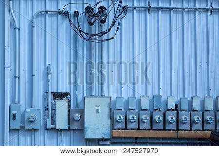 an image of electric meters