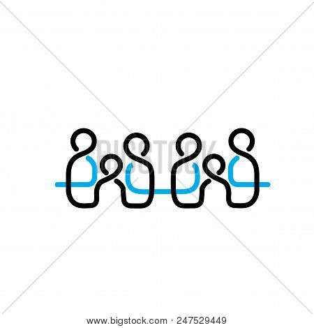 Family Logo Line Vector & Photo (Free Trial) | Bigstock
