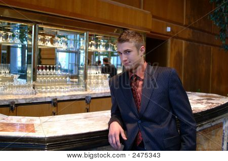 Handsome Man In Club Lounge