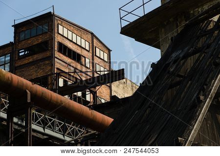 Abandoned Building In Dolni Vitkovice Industrial Area, Ostrava, Czech Republic