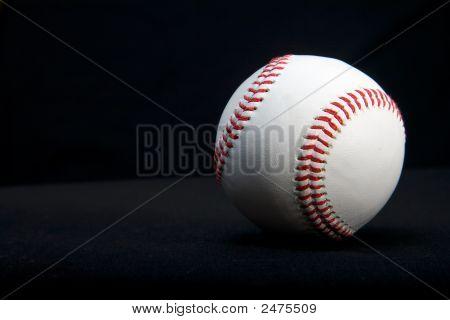 Baseball Isolated On Black