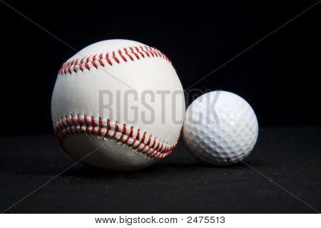 Baseball And Golf Ball