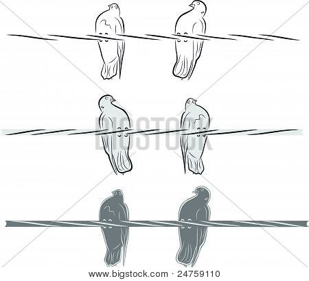 Doves, a symbol of communication and dating.