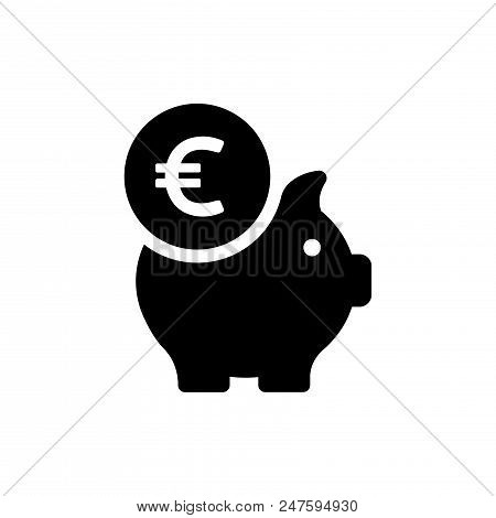Piggy Bank Vector Icon Flat Style Illustration For Web, Mobile, Logo, Application And Graphic Design