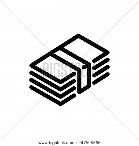 Funds Vector Icon Flat Style Illustration For Web, Mobile, Logo, Application And Graphic Design. Fun
