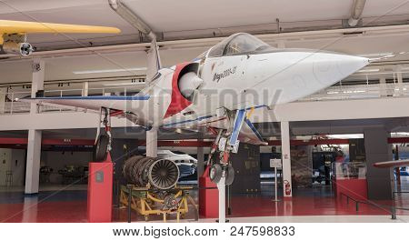 Le Bourget, Paris, France- May 04,2017: Dassault Mirage 2000 (1984) In The Museum Of Astronautics An