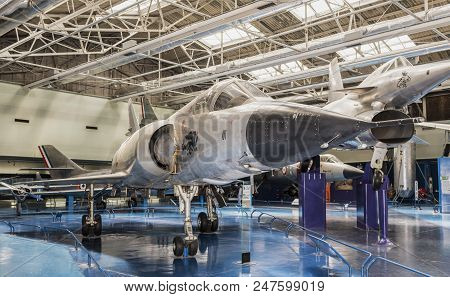 Le Bourget, Paris, France- May 04,2017: Dassault Mirage Iii.5 (1965) In The Museum Of Astronautics A