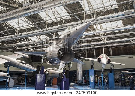 Le Bourget, Paris, France- May 04,2017: North 1500.02 Griffon 02(1957) In The Museum Of Astronautics