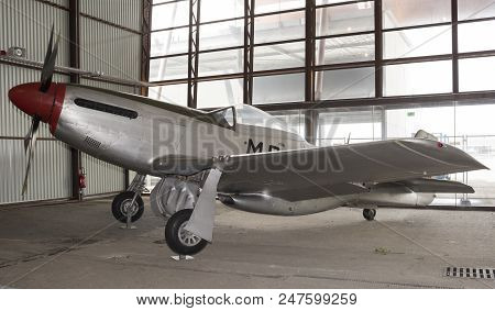 Le Bourget, Paris, France- May 04,2017: North American P-51d Mustang (1940) In The Museum Of Astrona