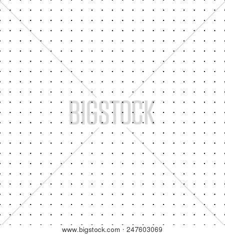 Dotted Grid. Seamless Pattern With Dots. Simplified Matrix White Vector Refill Background. Paper Wal