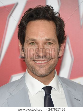 LOS ANGELES - JUN 25:  Paul Rudd arrives to the 'Ant-Man and The Wasp' World Premiere  on June 25, 2018 in Hollywood, CA